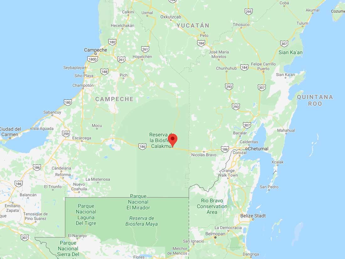 Xpujil-Karte